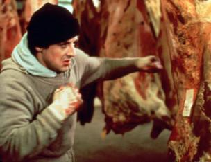 Rocky entrenando