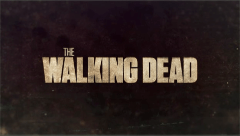 Letrero serie The Walking Dead