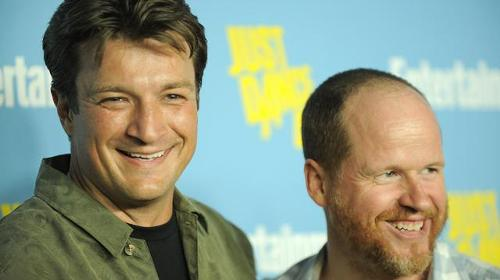 Nathan Fillion y Joss Whedon