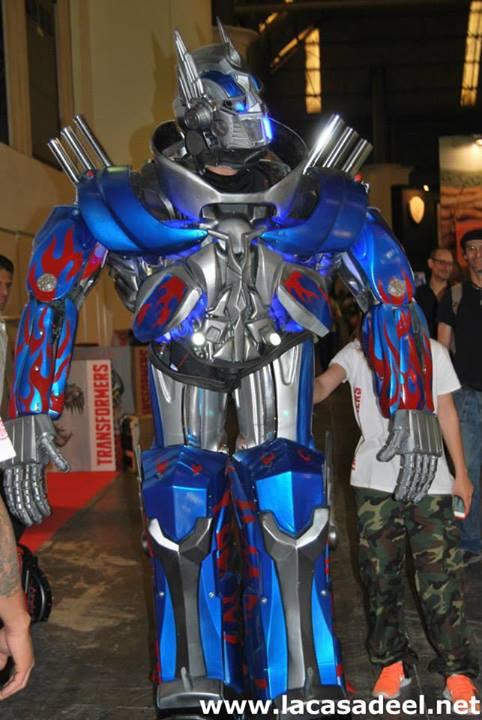 Cosplayers Transformer Salón del Cómic de Barcelona