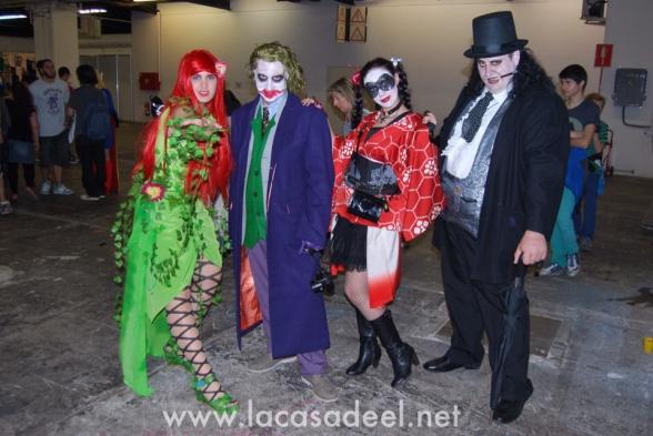 Cosplayers Villanos de Gotham Salón Cómic Barcelona