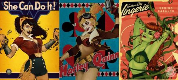 Dc comics láminas pin-up comic con