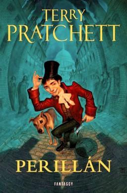 Perillán (Dodger) portada de Paul Kidby de la novela de Terry Pratchett publicada por Fantascy y ambientada en el Londres de Dickens