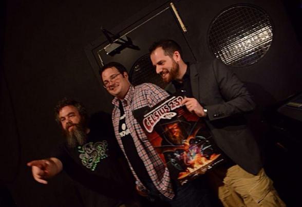 Patrick Rothfuss Brandon Sanderson y Joe Abercrombie en el Festival Celsius 232