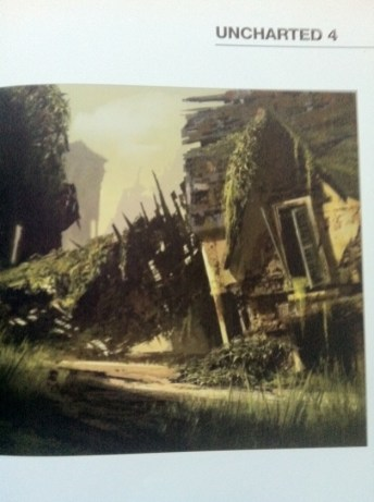 Las ruinas son la temática que predomina en estas ilustraciones
