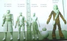Figuras de acción episodio VII