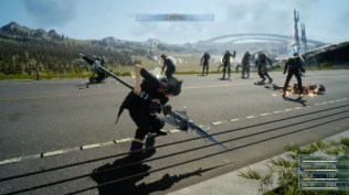 Final Fantasy XV (lucha en carretera 2)