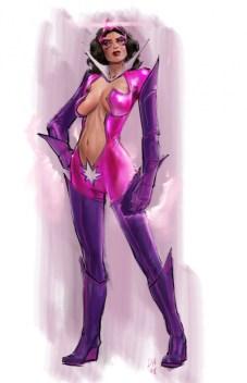 Star Saphire - Justice League videogame Double Helix