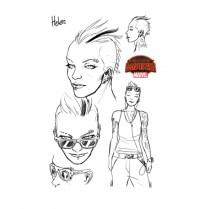 Boceto de Captain Marvel and the Carol Corps Helen
