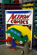 Portada de Action Comics Superman de LEGO - SDCC
