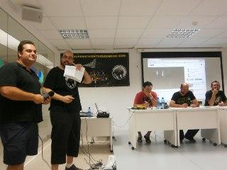 Paco y Josemi haciendo las preguntas