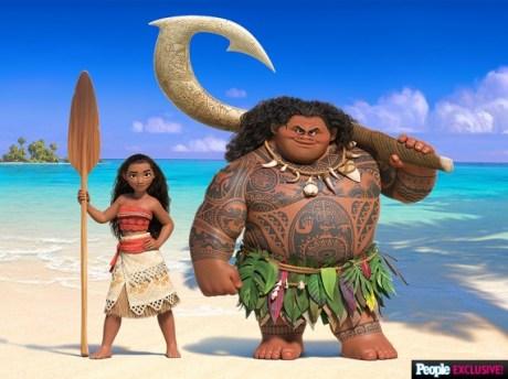 Moana y Maui