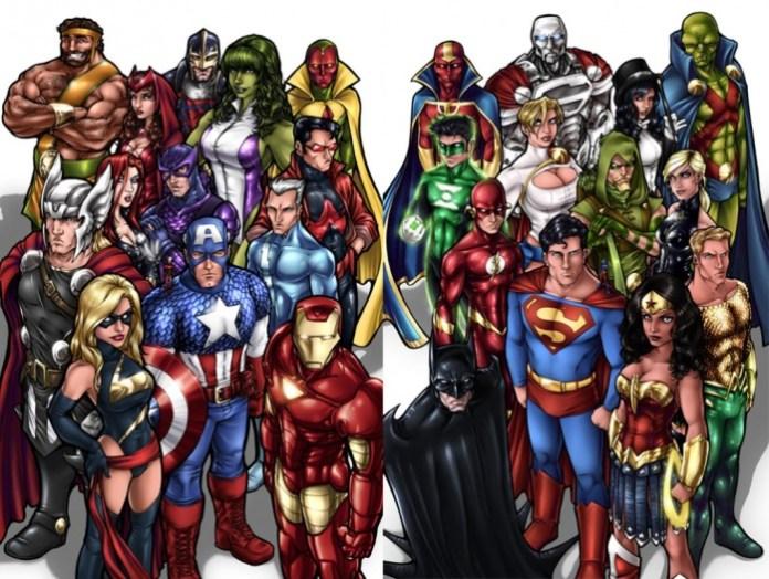 Marvel y DC Caída en ventas
