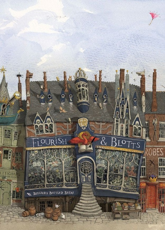 Harry Potter ilustrado Callejón Diagon