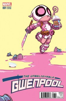 The Unveliebable Gwenpool Portada alternativa de Skottie Young