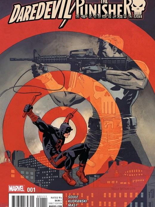 Daredevil Punisher Portada de Reilly Brown