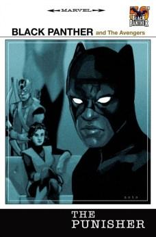 The-Punisher Portada 50 aniversario de Pantera Negra de Phil Noto