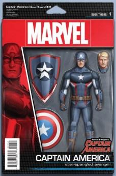 Captain America Steve Rogers Portada figura de acción de John Tyler Christopher
