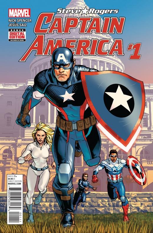 Captain America Steve Rogers Portada principal de Jesús Saiz