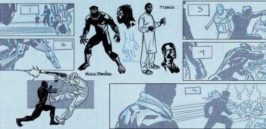 Pantera Negra bocetos