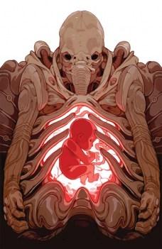 Prometheus Life and Death Portada alternativa de Sachin Teng