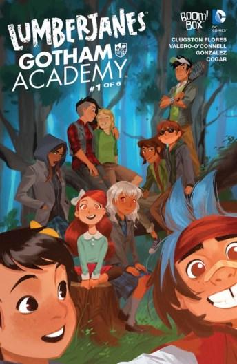 Lumberjanes Gotham Academy Portada principal de Mingjue Helen Chen
