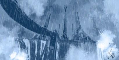 Star Wars Screaming Citadel Boceto 2