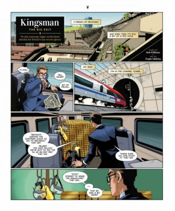 El cómic Kingsman The Big Exit ya ha sido publicado en la revista Playboy 1 copia