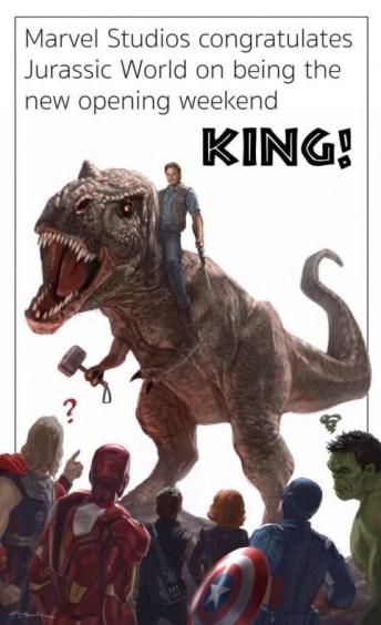 Jurassic Park supera a Marvel