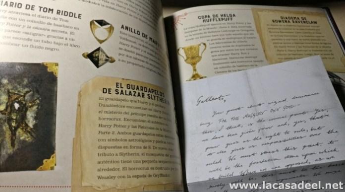 artes oscuras carta dumbledore