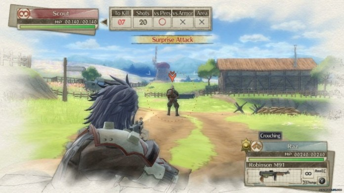 Valkyria Chronicles 4 ataque
