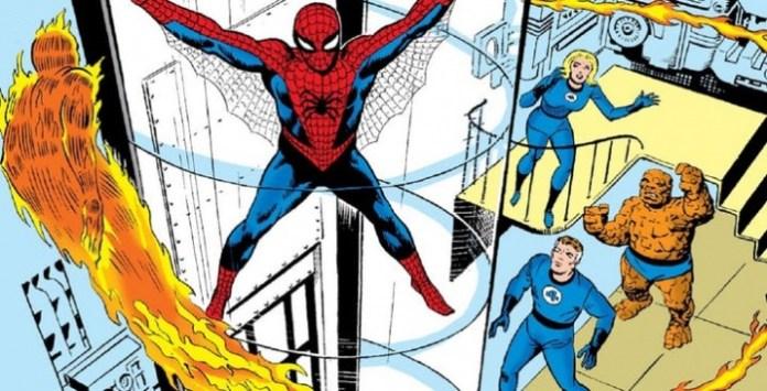 fantastic four spider man display