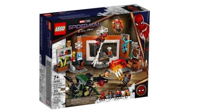 Spider Man No Way Home LEGO traje rojo negro y dorado 01