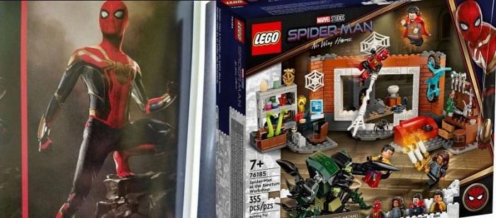 Spider Man No Way Home LEGO traje rojo negro y dorado 03