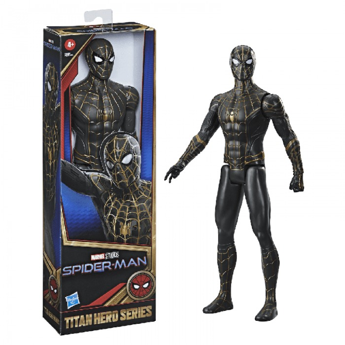 Spider Man No Way Home traje negro y dorado 02