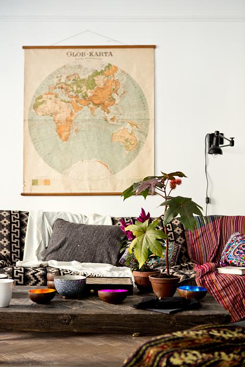 small swedish scandinavian bohemian apartment 1