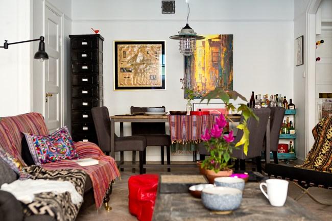 small swedish scandinavian bohemian apartment 2
