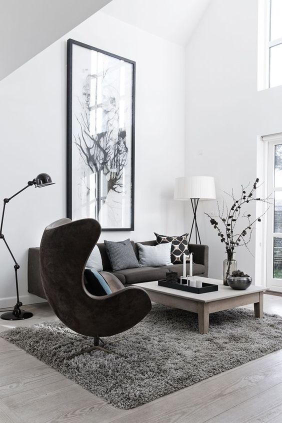 The Egg chair as the protagonist of these interiors 03