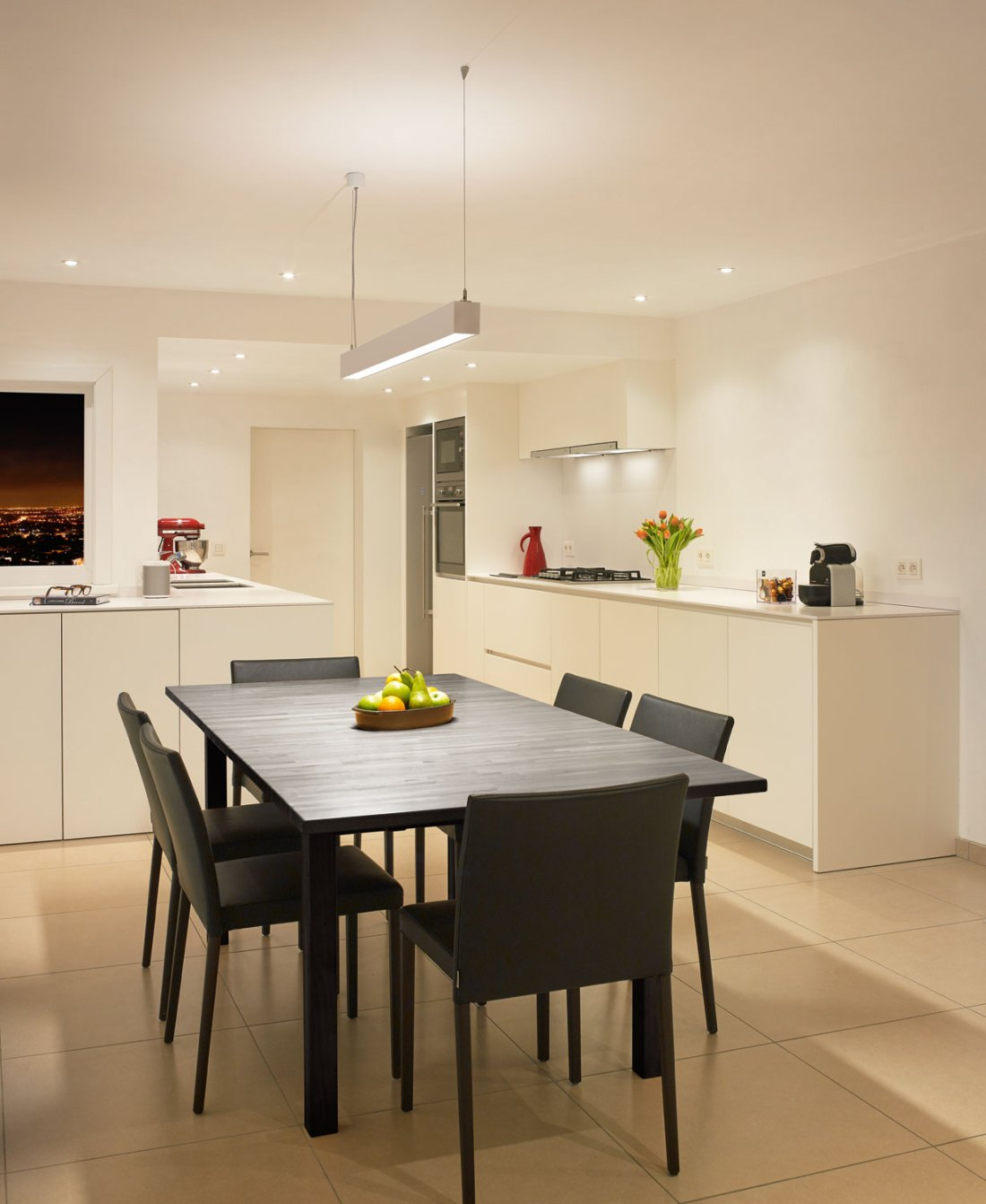 How to illuminate your kitchen countertop if you do not have upper cabinets or shelves 01