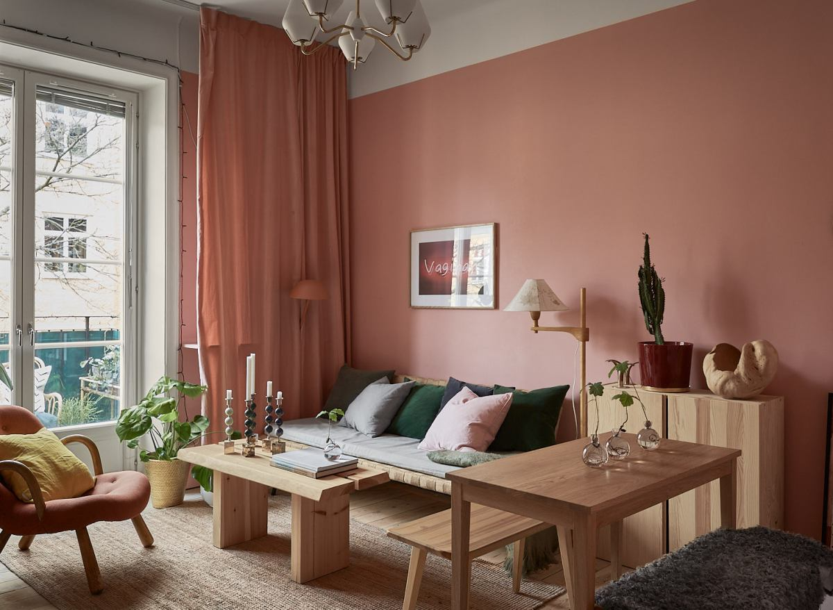 Pink and cherry A romantic, sophisticated and fresh apartment 03