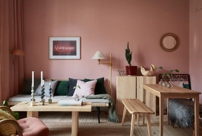 Pink and cherry A romantic, sophisticated and fresh apartment 05