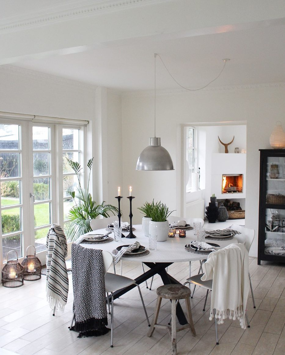 dining room boho style home 01