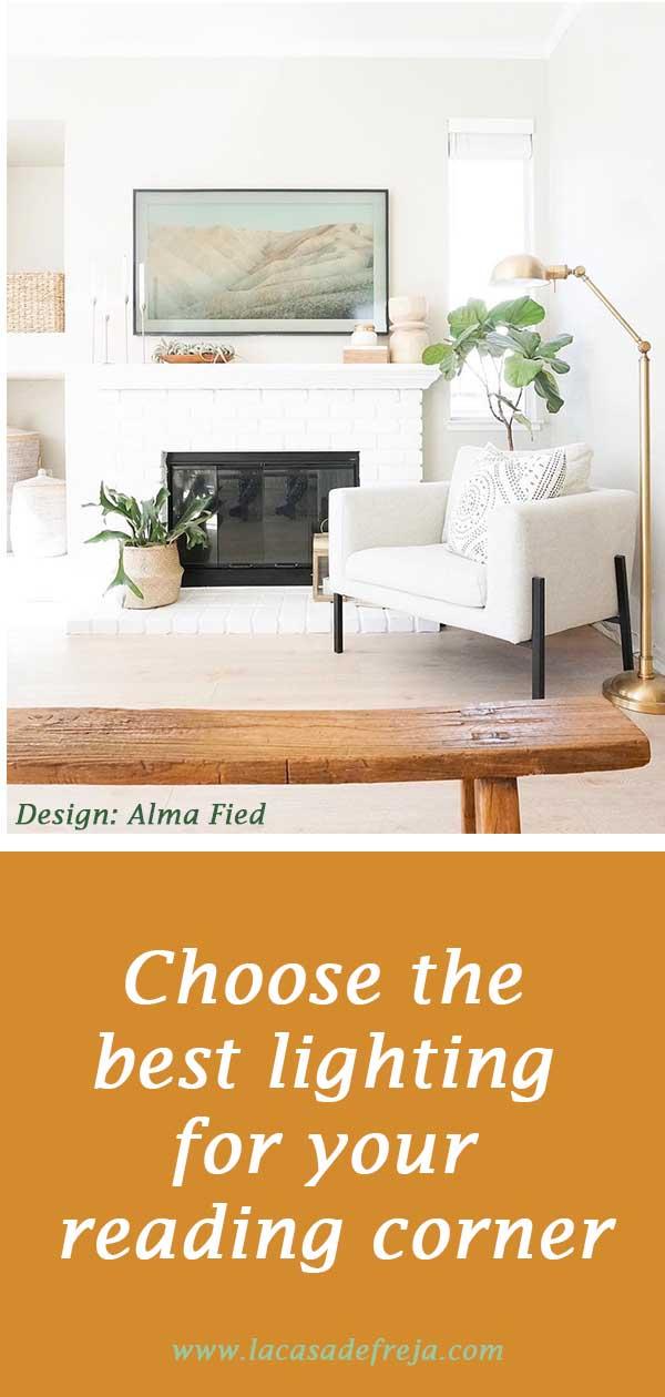 Choose the best lighting for your reading corner 00