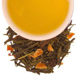 té verde con damasco y miel y polen
