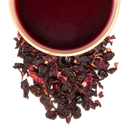 infusion de berries arándano bayas de sauco pasas hibiscos
