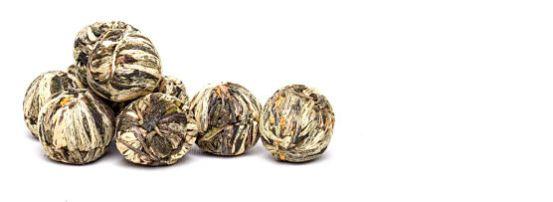 bolitas de te blooming tea osmanthus azucena