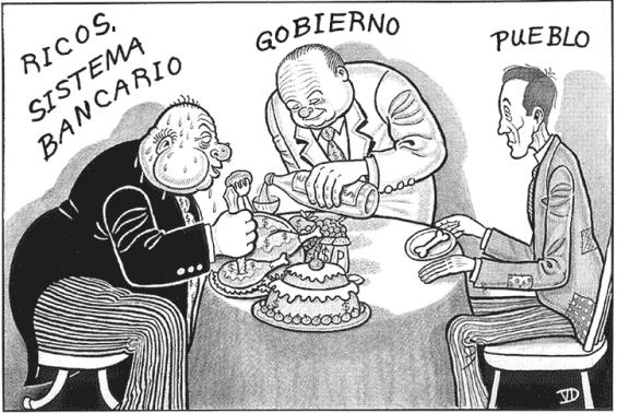 ricos sistema bancario gobierno pueblo