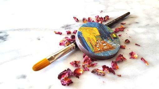 Chocolate art interpretation of Van Gogh