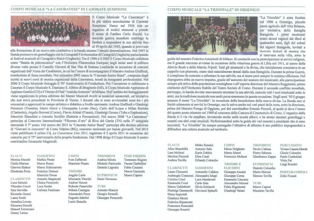 Banda-programma Auditorium Milano 20.4.2013-2