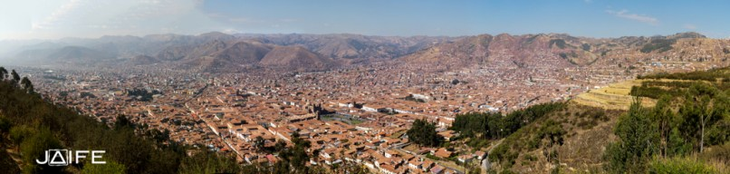 Panorama of the Inca town, Cuzco